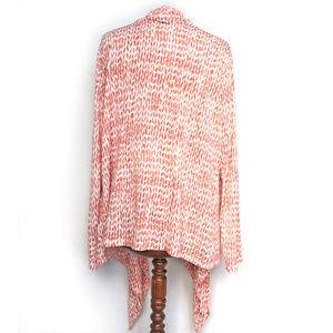 Kasper Sweaters - Kasper Sportswear Orange Cream Tie Cardigan 2X